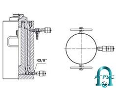 Домкрат телескопический ДТ60Г500