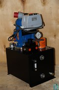 Насосная гидравлическая станция с электроприводом, с ручным распределителем НЭР-1,1И10Ф1
