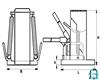 Домкрат с низким подхватом ДА50П148К - фото 6047